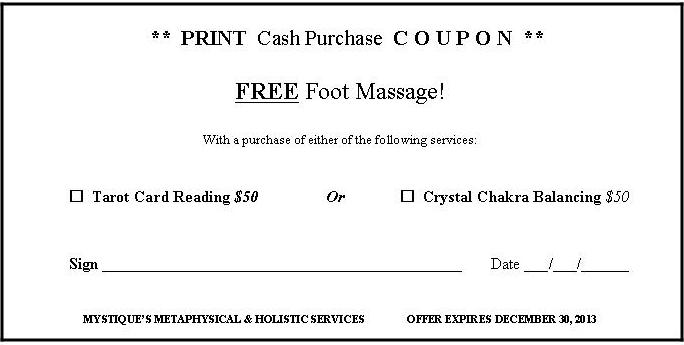 PRINT Coupon to Pay with Cash